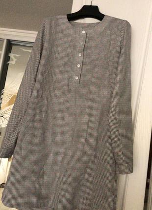 Трендовое платье-рубашка из натурального шелка