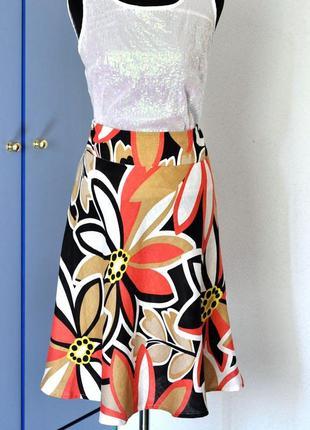 Яркая юбка hobbs, натуральный лен