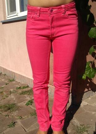 Классные розовые джинсы rose heart