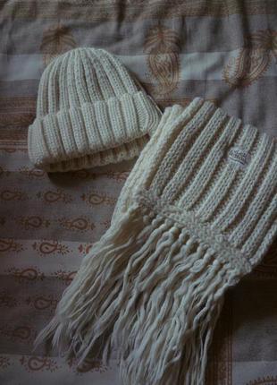 Набор шапка и шарф зима