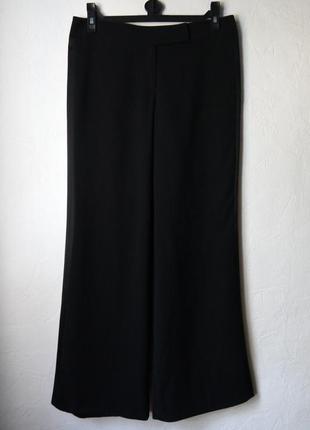 Широкие брюки с сатиновыми вставками