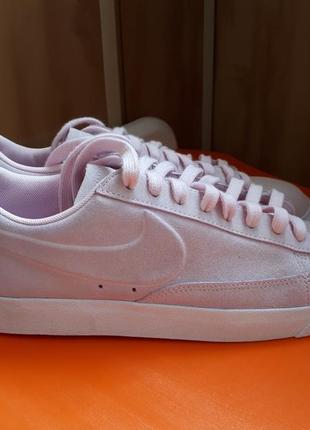 Крутые кеды кроссовки nike оригинал натуральный замш нежно розовые 40-41 размер