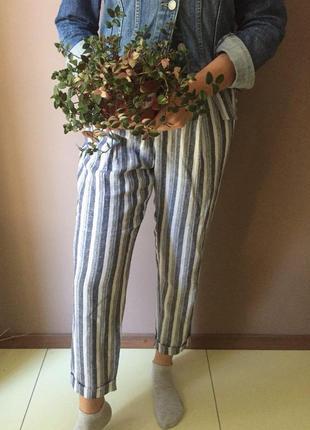 Льняные брюки f&f