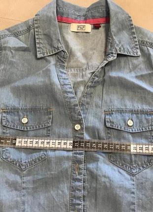 Красивая тоненькая джинсовая безрукавка
