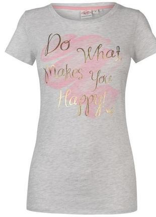 Стильная футболка с золотистой надписью