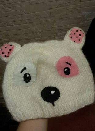 Милая шапочка - медвежонок с ушками