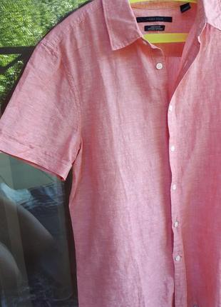 Льняная рубашка из сша
