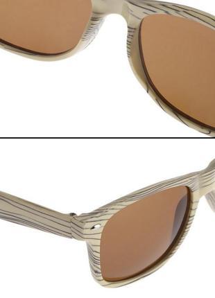 Продажа-обмен солнцезащитные очки под дерево бежевые
