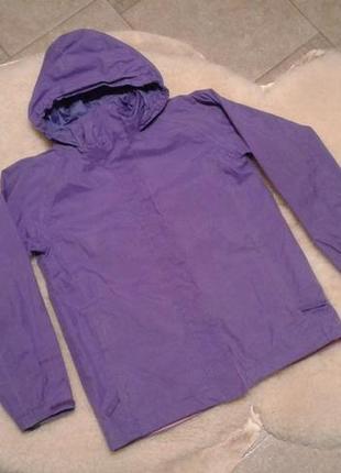 Фиолетовая ветровочка peter storm на девочку 7-8 лет