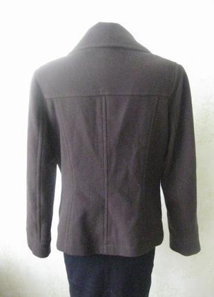 Шерстяное пальто короткое стильное2 фото