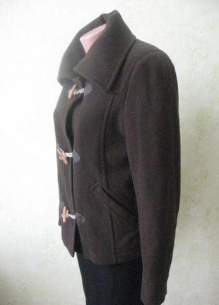 Шерстяное пальто короткое стильное3 фото