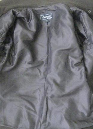 Шерстяное пальто короткое стильное5 фото
