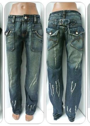 """Новые стильные джинсы """"goldmania"""" с потертостями.размер 44."""