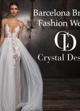 Шикарнейшее свадебное платье crystal design5 фото