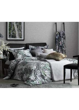 Постельное белье tac сатин digital venus постель серый леопард евро