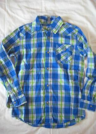 Рубашка gee jay company на кнопках в состояние новой 12-13 лет