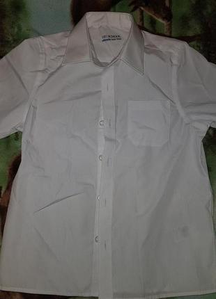 Школьные рубашки с коротким рукавом marks&spencer, на рост 122, б/у