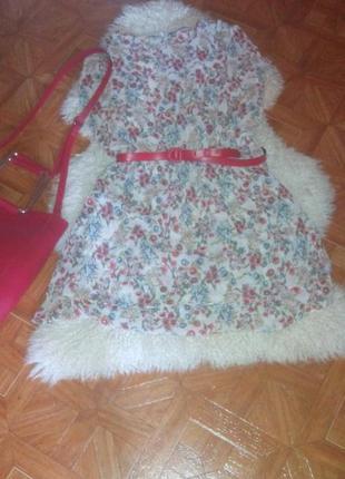 Платье в цветочек zara