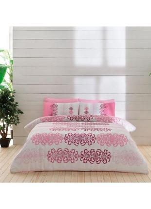 Постельное белье tac despina постель ранфорс розовое евро1