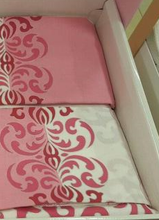 Постельное белье tac despina постель ранфорс розовое евро3