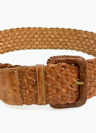 Ремень accessorize, нат. кожа, индия, широкий, плетение.
