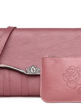 Новая роскошная сумочка с кошельком
