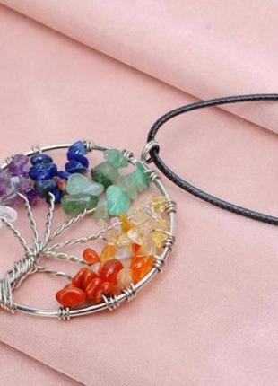 Распродажа красивый кулон ожерелье дерево натуральные камни
