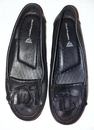 Фирменные брендовые кожаные мокасины, лоферы, мягкая стелька, 39 размер