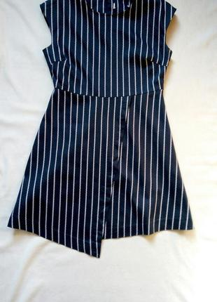 Стильное платье в трендовом крое,вертикальная полоска!
