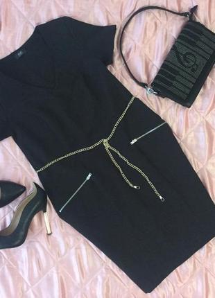 Скидка) платье f&f, изумительно красивое платье в классическом стиле с двумя кармашками💄💋
