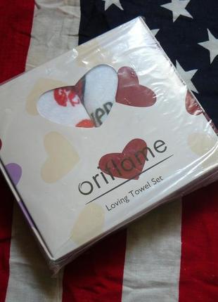 Комплект полотенец «нежные сердца»1