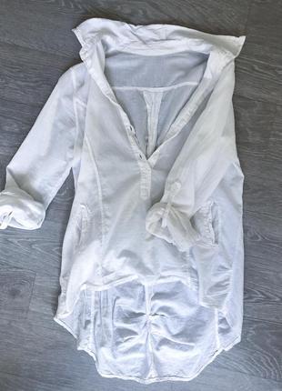 Рубашка батист и лён