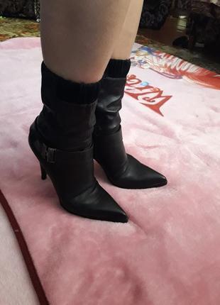 Кожаные сапоги деми сапожки ботинки