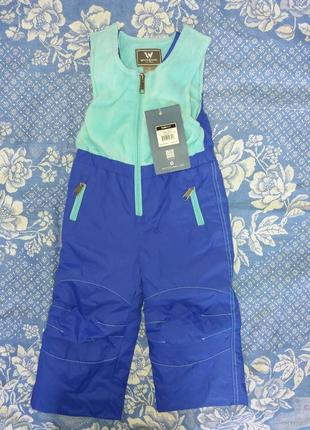 Зимние брюки комбинезон мальчику девочке штаны white sierra на 2 года