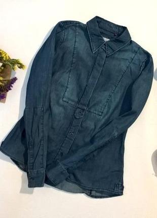 Джинсовая рубашка esprit xs