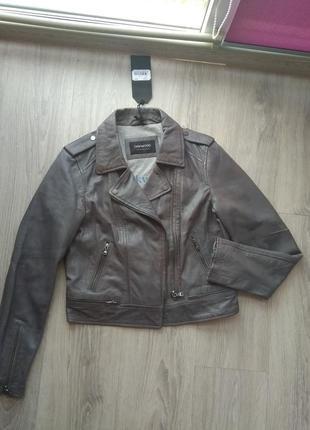 100% кожа куртка/косуха дымчатого цвета с эффектом состаренной. oakwood франция.