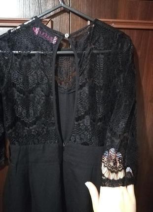 Комбинезон с гипюром ,платье