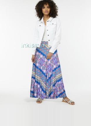 Длинная юбка monsoon uk 20-22 xl трикотаж