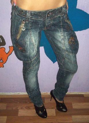 Фирменные джинсы галифе raw оригинал