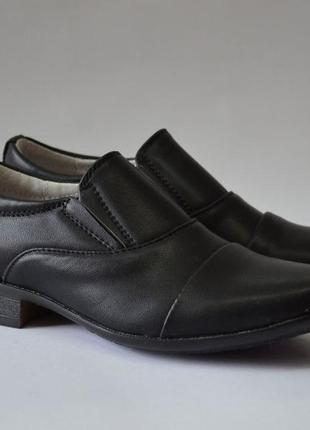 Школьные ортопедические туфли b&g, кожаная стелька