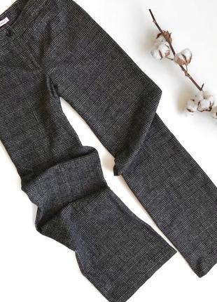Серые шерстяные брюки в клетку max&co линейки max mara