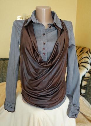 Блуза с жилеткой