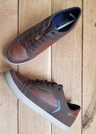 Мужские кожаные кроссовки geox