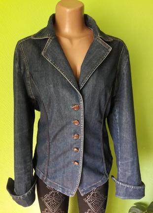 Стильный джинсовый пиджак жакет