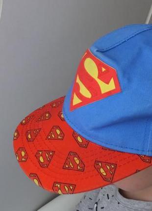 Модная детская кепка супермен superman dc comics на 7 лет