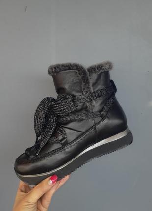 Кожанные ботинки, луноходы , бренда alpino