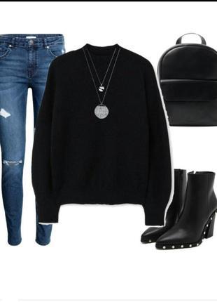 Базовый черный джемпер, свитер