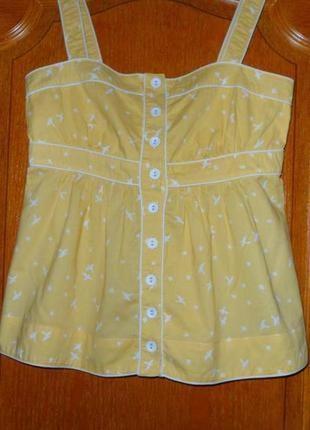 Хлопковая  пижамная маечка для сна,размер наш 46.
