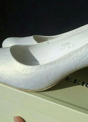 Туфли свадебные цвет айвори, 38 размер