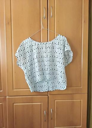 Размер м футболка топик с принтом кроп короткая майка
